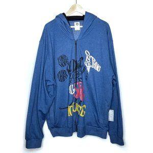 Disney Store Full Zip Sweatshirt Hoodie Blue NWT